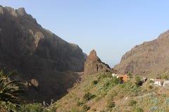 Nordvästligt av Tenerife och den härliga sikten av Masca Arkivfoto