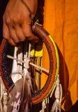 Nordwestbeadwork des amerikanischen Ureinwohners Stockbild