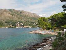 Nordwestufer Cavtat im August 2013 Kroatien Stockfoto