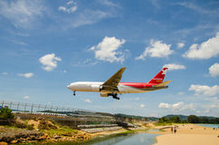 Nordwind airlines airplane landing at Phuket International airpo Stock Photography