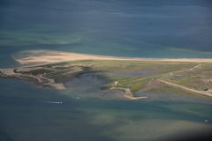 Norfolk From The Air - Blakeney Point Stock Photo