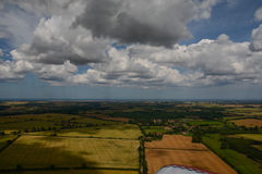 Norfolk From The Air - Flying Towards the Coast Royalty Free Stock Photography