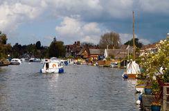 Norfolk Broads. Part of the Norfolk Broads on the river Bure stock images