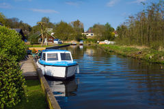 Norfolk Broads. Part of the Norfolk Broads on the river Bure stock photo