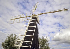 Norfolk broads. Priory Mill Timber smock drainage mill built 1910 st olaves norfolk broads national park east anglia england uk europe stock image