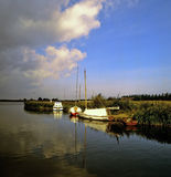 Norfolk broads. East anglia national park england uk europe horsey mere royalty free stock images