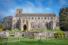 A Norfolk Church in the Spring stock image