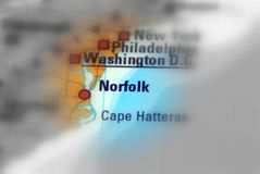 Norfolk, the Commonwealth of Virginia - United States U.S. Norfolk, an independent city in the Commonwealth of Virginia in the United States black and white Stock Image