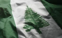 Norfolk-Insel-Flagge zerzauste nah oben stockfoto