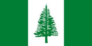 Norfolk-Inselflaggenvektor lizenzfreie abbildung