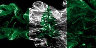 Norfolk island smoke flag, Australia dependent territory flag.  Royalty Free Stock Photography