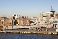 Norfolk militärt skepp Arkivbilder