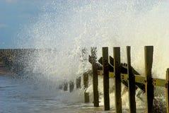 Norfolk Seashore. Sea spray on Norfolk beach Stock Images