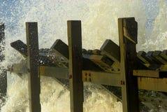Norfolk Seashore. Sea spray on Norfolk beach Royalty Free Stock Image