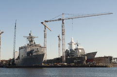 Norfolk Shipyard Stock Photography
