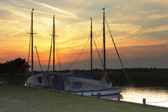 Norfolk sjödistrikt i Norfolk Arkivbilder