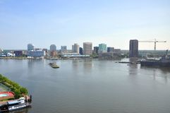 Norfolk Skyline, Virginia Stock Image