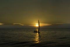 Norfolk solnedgång Arkivbild
