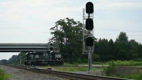 Norfolk Southern locomotives on siding stock video footage