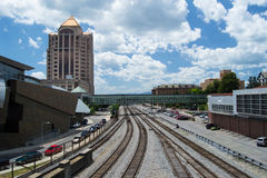 Norfolk and Southern Railyard Stock Photo