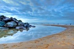 Norfolk-Strand in der Dämmerung Stockfotos