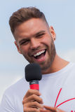 Dominic Lever from Love Island at Truckfest 2017 Royalty Free Stock Photo