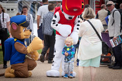 Paw Patrol featival mascots Royalty Free Stock Images