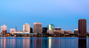 Norfolk Virginia horisont Arkivfoton