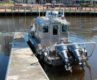 Norfolk Virginia Police Patrol Boat stockbilder