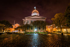 Norfolk, Virginia during a Warm Fall Night.  Stock Images