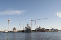 Norfolk-Werft Stockfotos