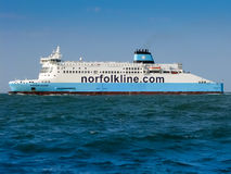 Norfolkline Ferry in Dover Strait, North Sea, UK Royalty Free Stock Images
