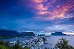 Norge - Alesund royaltyfri foto
