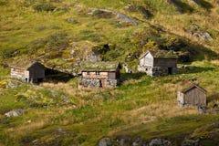 Norge - bergby royaltyfria foton