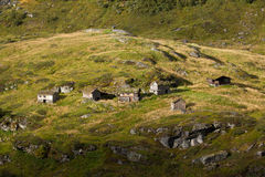 Norge - bergby royaltyfri fotografi