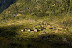 Norge - bergby royaltyfria bilder