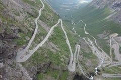 Norge - berglandskap Trollstigen Fotografering för Bildbyråer