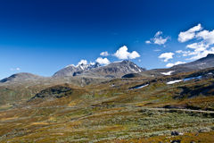 Norge - bergsikt arkivbilder
