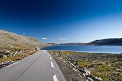 Norge - bergväg royaltyfria foton