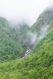 Norge dimmigt berglandskap Fotografering för Bildbyråer