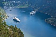 Norge - färjakryssning royaltyfri bild