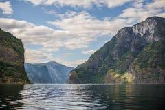 Norge. Fjordar. Flam Arkivfoton