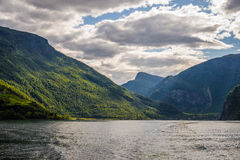 Norge. Fjordar. Flam Royaltyfria Foton