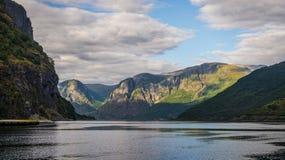 Norge. Fjordar. Flam Arkivbilder