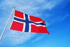Norge flagga Royaltyfri Fotografi