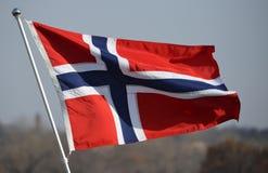 Norge flagga Fotografering för Bildbyråer