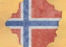 Norge flaggaabstrakt begrepp i betong för agg för fasadstruktur stor skadad arkivbilder