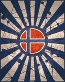 Norge flaggabegrepp fotografering för bildbyråer