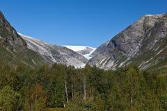Norge - glaciär Arkivbilder