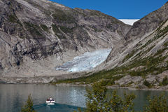 Norge - glaciär royaltyfri fotografi